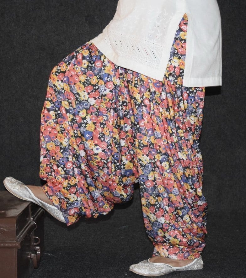 Limited Edition Printed HOSIERY Cotton Fabric Full Patiala Salwar PPS133 1