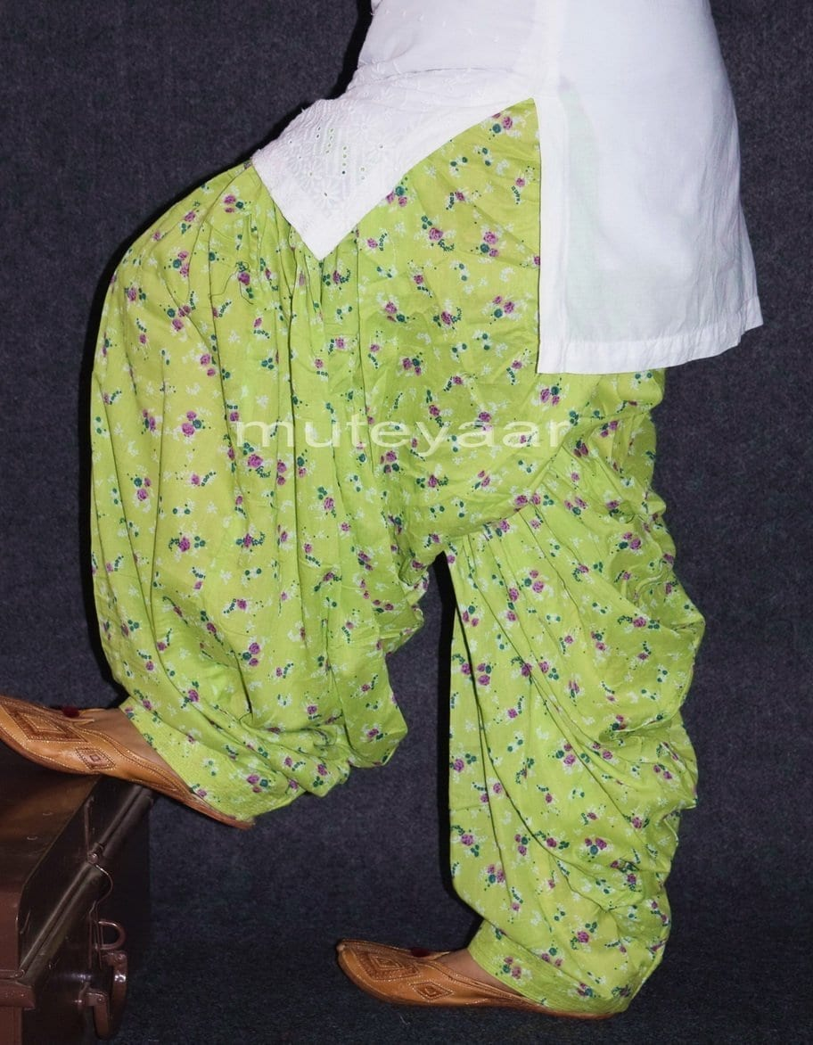 Limited Edition Printed 100%  Pure Cotton Full Patiala Salwar PPS153 1