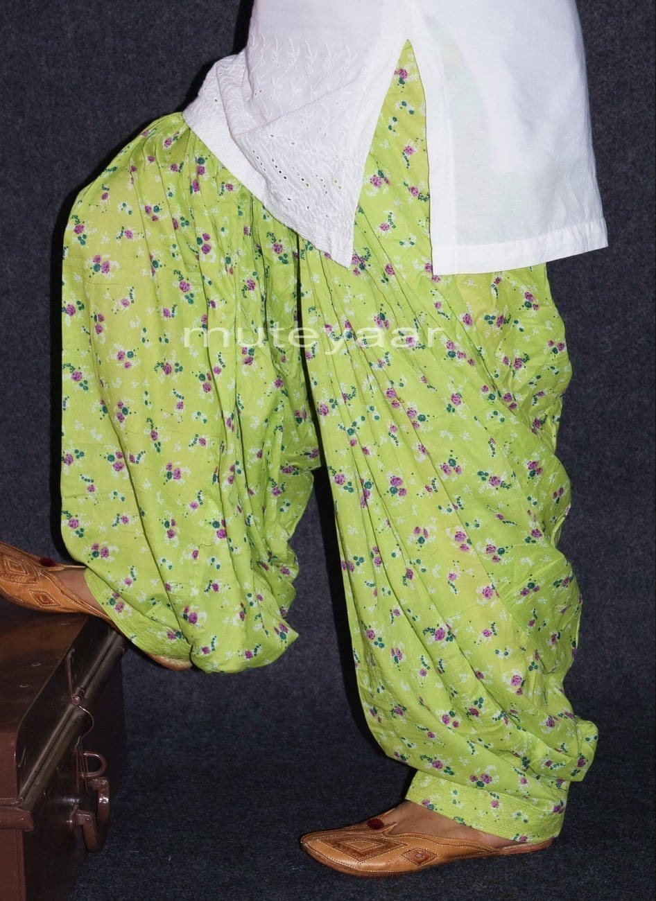 Limited Edition Printed 100%  Pure Cotton Full Patiala Salwar PPS153 2