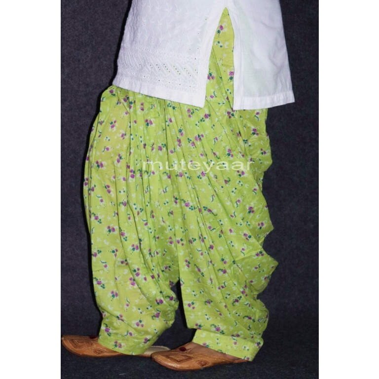 Limited Edition Printed 100%  Pure Cotton Full Patiala Salwar PPS153