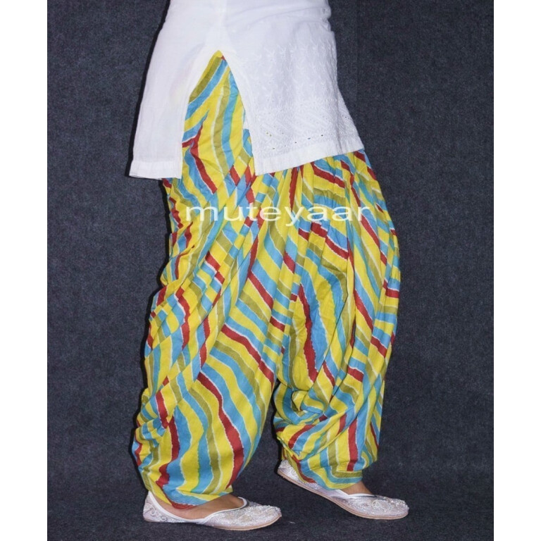 Limited Edition Printed 100%  Pure Cotton Full Patiala Salwar PPS172