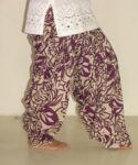 Wine Leaves Print Pure Cotton Patiala Shalwar PPS49