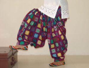 Purple Chinese Print 100%  Pure Cotton Patiala Salwar PPS54