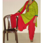 Pure Cotton Printed kameez with plain Salwar Dupatta PS002
