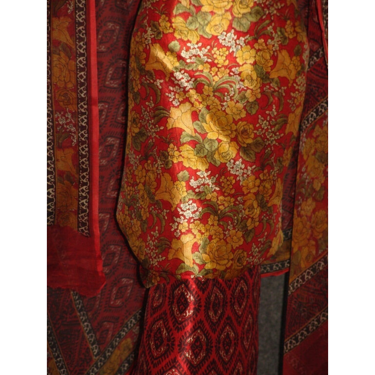 Pure Dupion Silk Printed Suit with Pure Chiffon Dupatta PS007