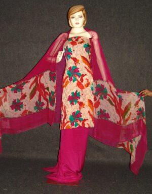 Pure Crepe Printed Suit with Pure Chiffon Dupatta Chunni  PS014