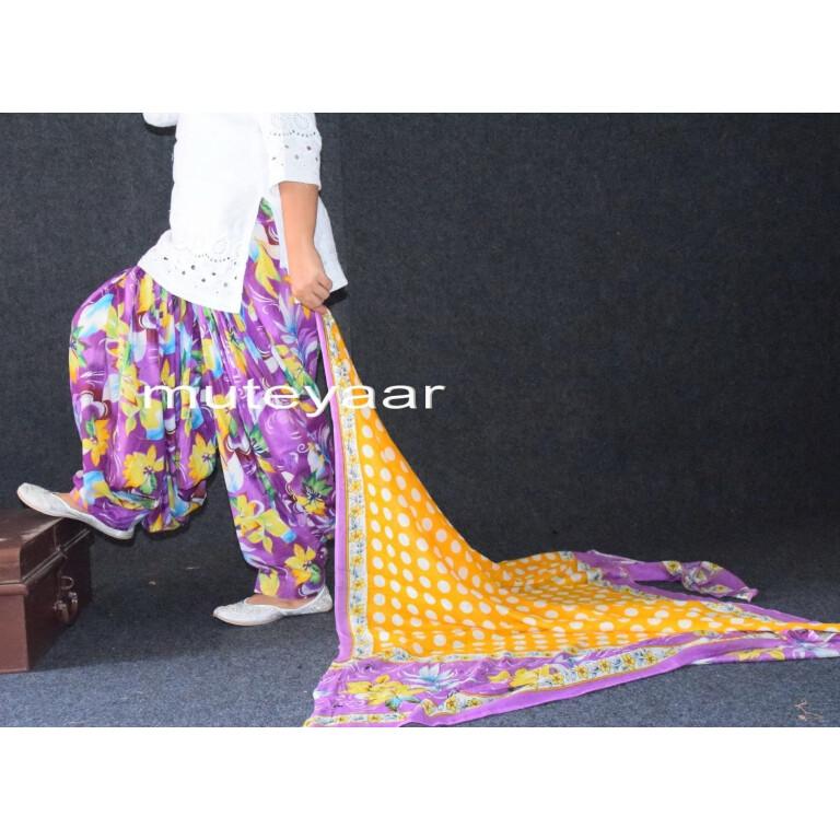 100% Pure Cotton FULL Patiala Salwar + 2.5 meter cotton printed dupatta PSD123
