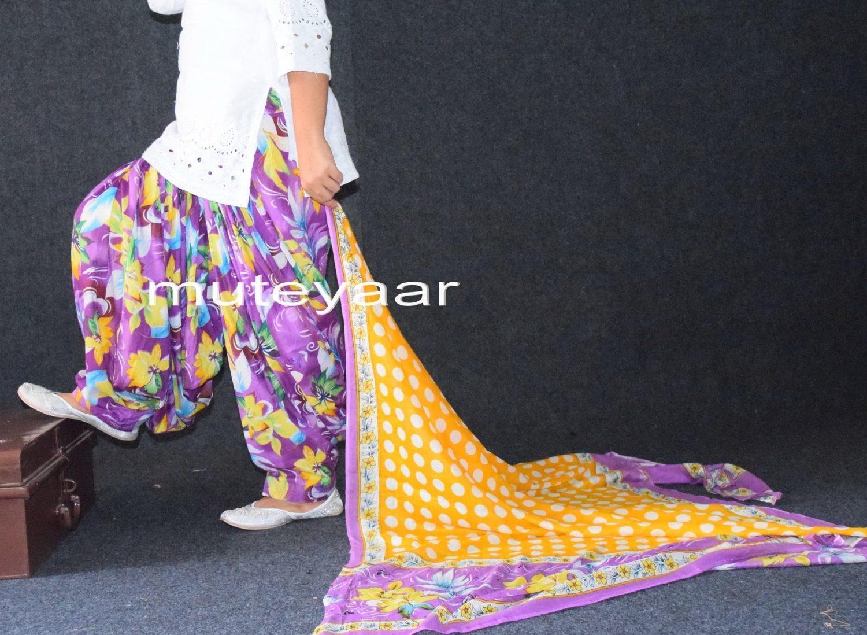 100% Pure Cotton FULL Patiala Salwar + 2.5 meter cotton printed dupatta PSD123 1