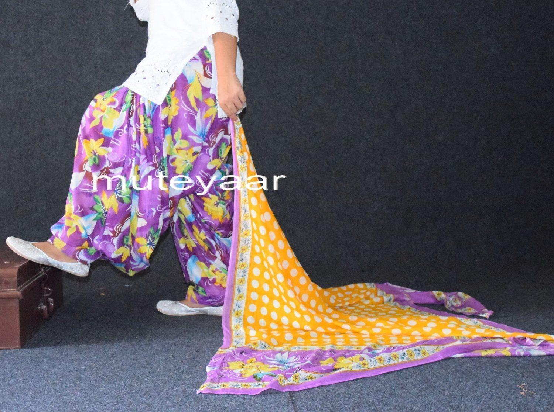 100% Pure Cotton FULL Patiala Salwar + 2.5 meter cotton printed dupatta PSD123 2