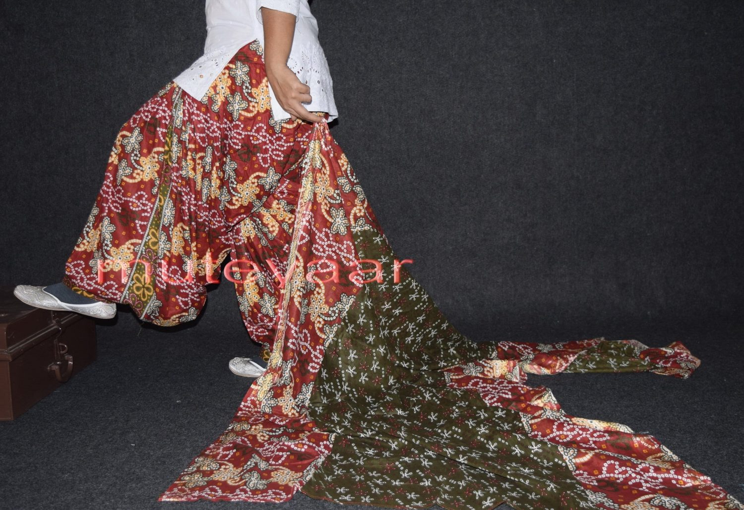 100% Pure Cotton FULL Patiala Salwar + matching cotton printed dupatta PSD132 2
