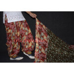 100% Pure Cotton FULL Patiala Salwar + matching cotton printed dupatta PSD132