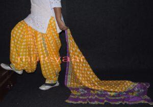 100% Pure Cotton FULL Patiala Salwar + matching cotton printed dupatta PSD133
