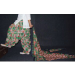 100% Pure Cotton FULL Patiala Salwar + matching cotton printed dupatta PSD140