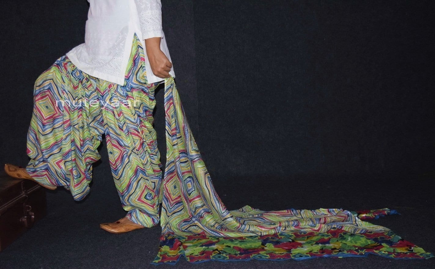 100% Pure Cotton FULL Patiala Salwar + matching cotton printed dupatta PSD141 1
