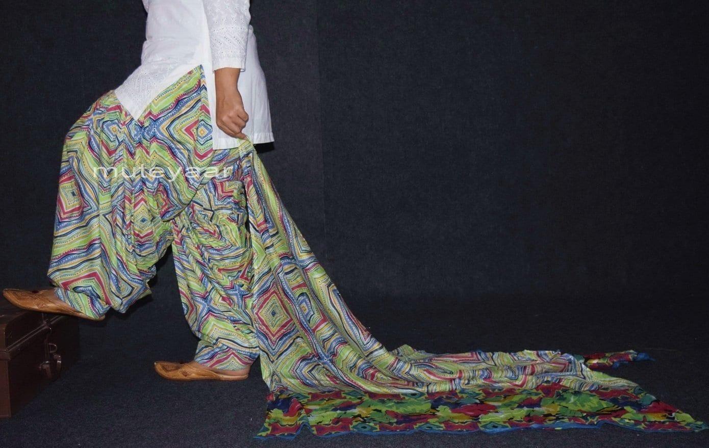 100% Pure Cotton FULL Patiala Salwar + matching cotton printed dupatta PSD141 3