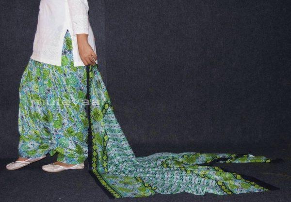 100% Pure Cotton FULL Patiala Salwar + matching cotton printed dupatta PSD143