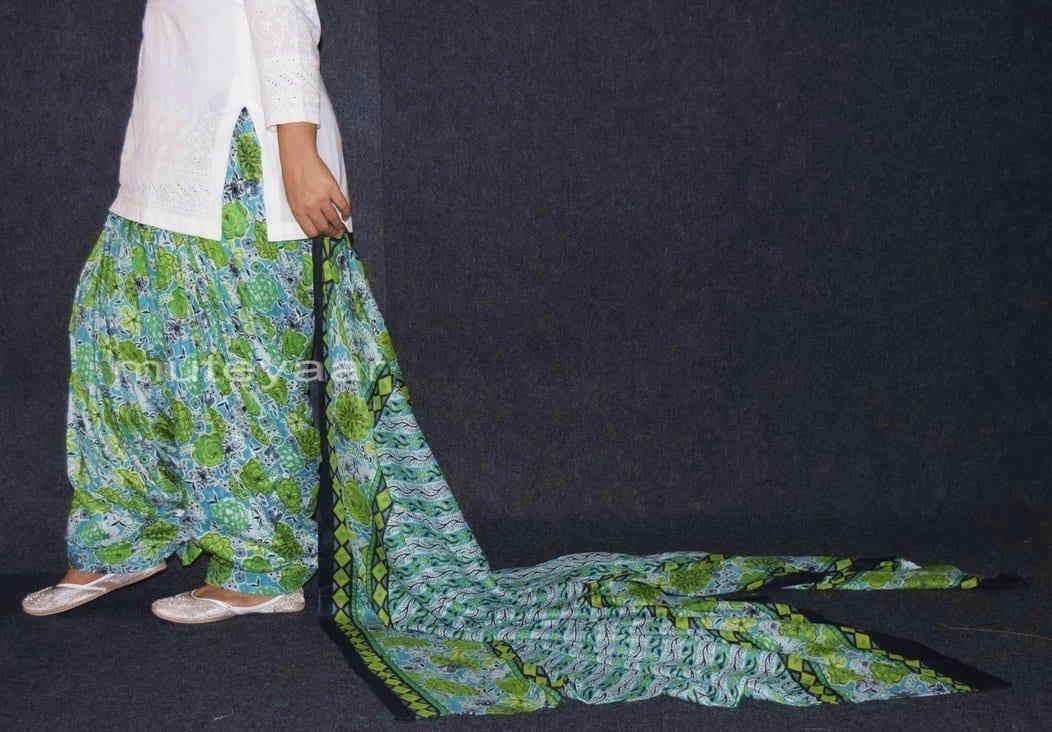 100% Pure Cotton FULL Patiala Salwar + matching cotton printed dupatta PSD143 3
