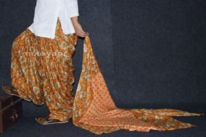 100% Pure Cotton FULL Patiala Salwar + matching cotton printed dupatta PSD146