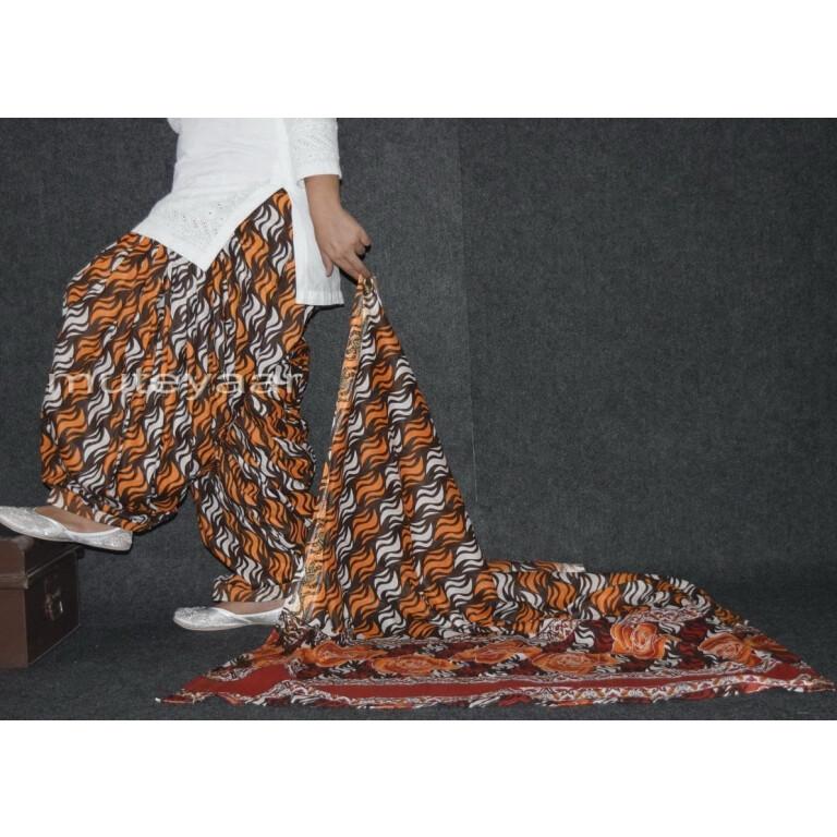 100% Pure Cotton FULL Patiala Salwar + matching cotton printed dupatta PSD155