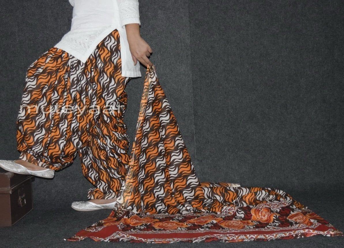 100% Pure Cotton FULL Patiala Salwar + matching cotton printed dupatta PSD155 1