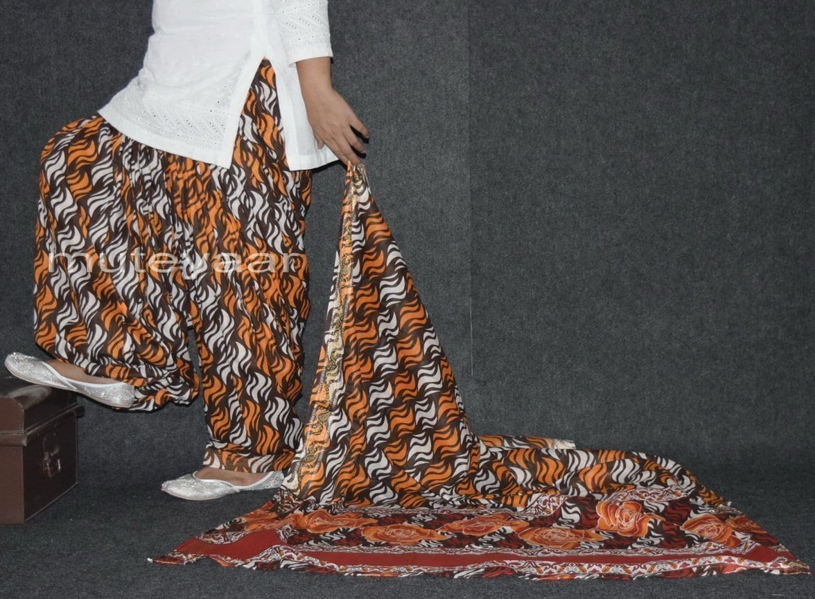 100% Pure Cotton FULL Patiala Salwar + matching cotton printed dupatta PSD155 2