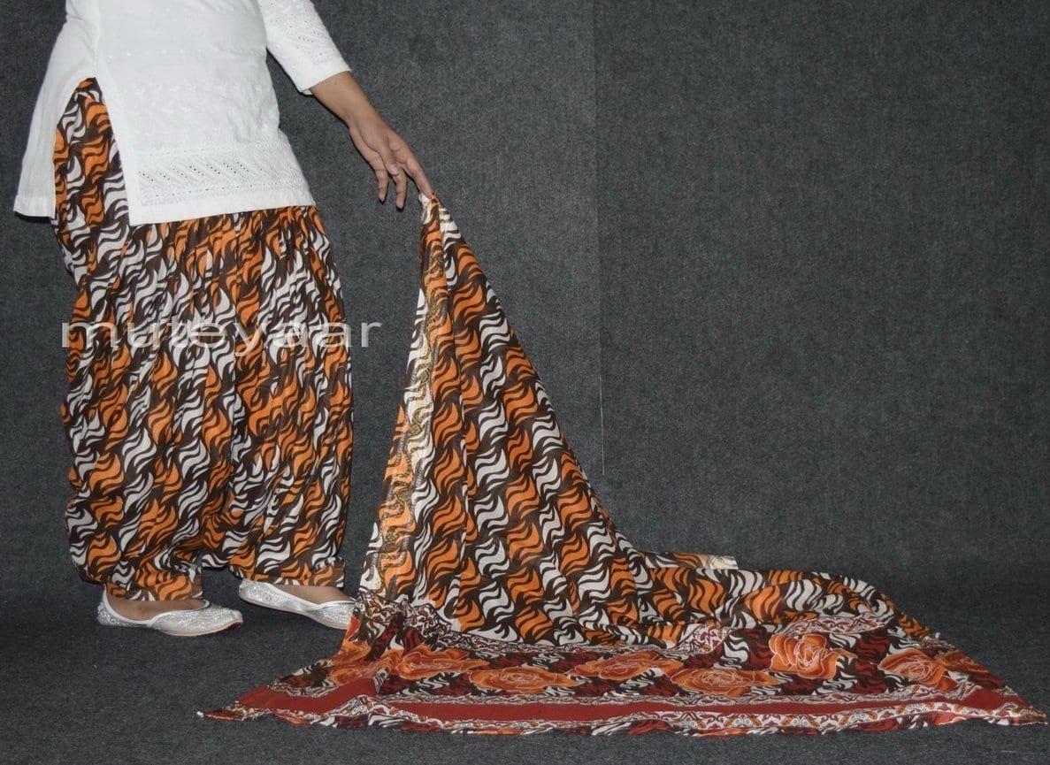 100% Pure Cotton FULL Patiala Salwar + matching cotton printed dupatta PSD155 3