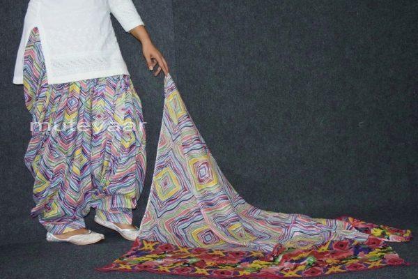 100% Pure Cotton FULL Patiala Salwar + matching cotton printed dupatta PSD165