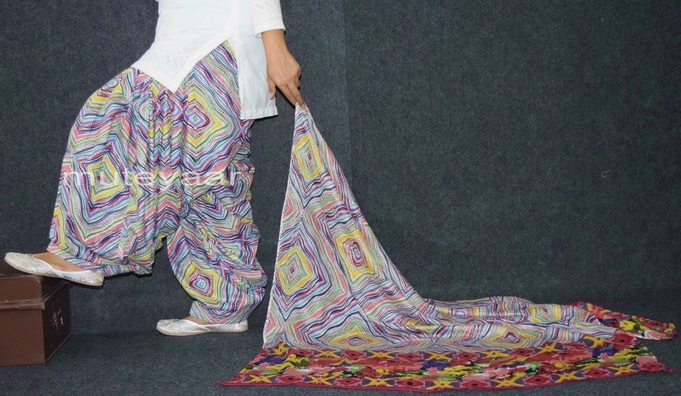 100% Pure Cotton FULL Patiala Salwar + matching cotton printed dupatta PSD165 3