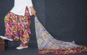 100% Pure Cotton FULL Patiala Salwar + matching cotton printed dupatta PSD166