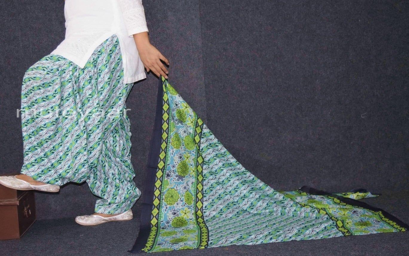 100% Pure Cotton FULL Patiala Salwar + matching cotton printed dupatta PSD169 2