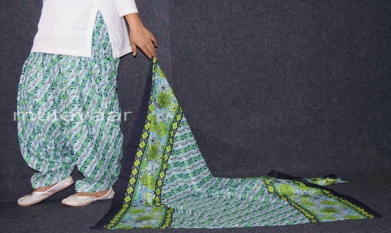 100% Pure Cotton FULL Patiala Salwar + matching cotton printed dupatta PSD169 4