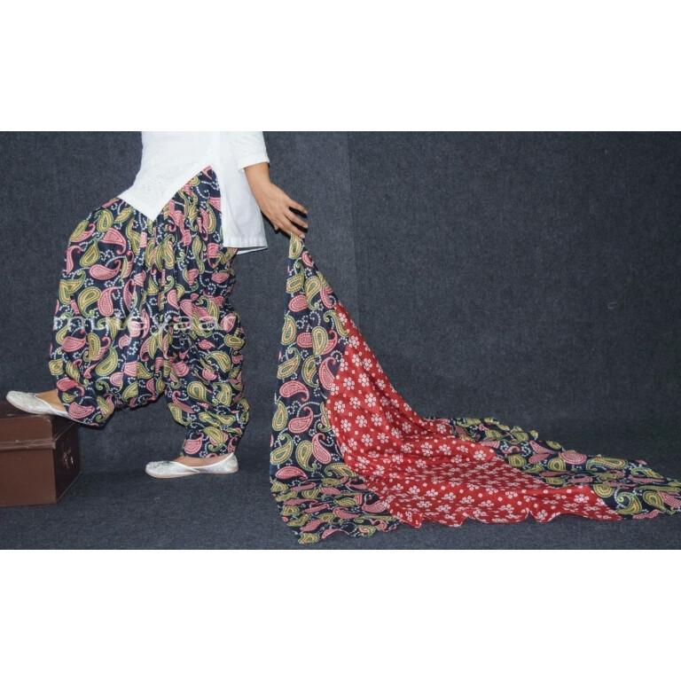 100% Pure Cotton FULL Patiala Salwar + matching cotton printed dupatta PSD170