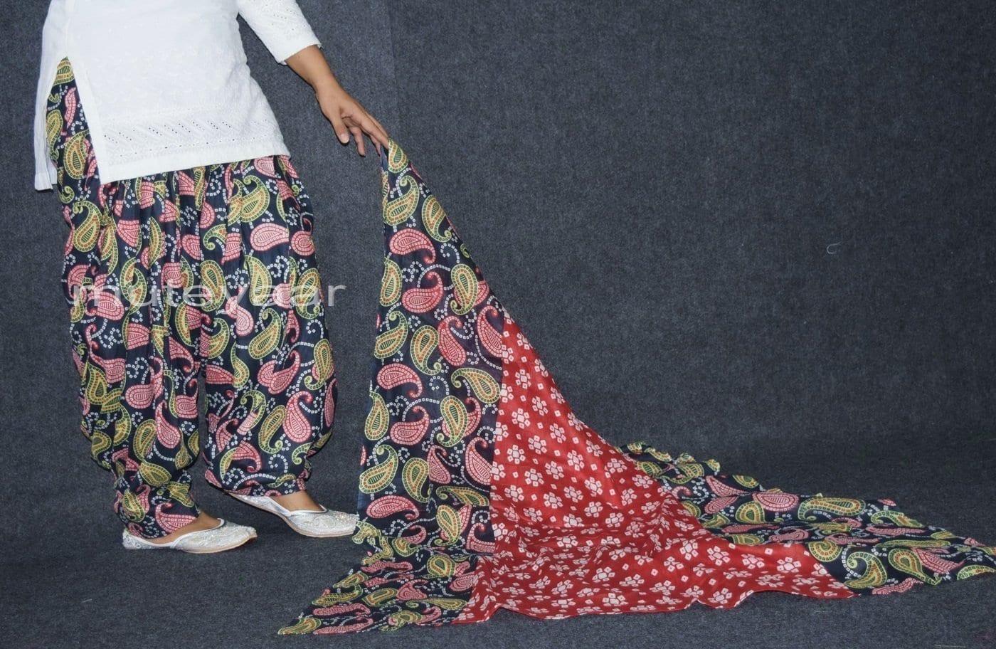 100% Pure Cotton FULL Patiala Salwar + matching cotton printed dupatta PSD170 3