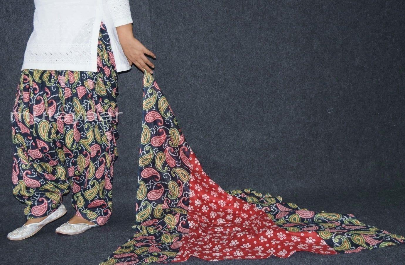 100% Pure Cotton FULL Patiala Salwar + matching cotton printed dupatta PSD170 4
