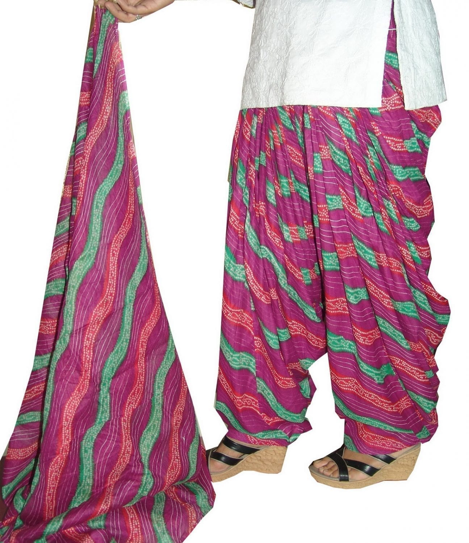 100% Pure Cotton FULL Patiala Salwar + 2.5 meter dupatta PSD56 1