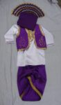 Purple White Bhangra dance Costume / outfit dress