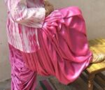 Super Heavy PINK Satin Silk Maharani Patiala Salwar