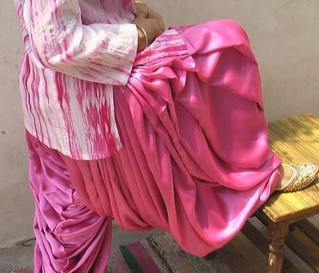 Super Heavy PINK Satin Silk Maharani Patiala Salwar 3