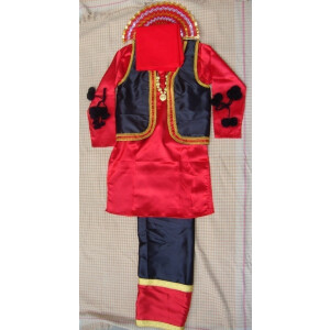 RED/BLACK Bhangra dance Costume / outfit dress- ready to wear