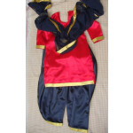 RED/BLACK custom made Girl's Bhangra Costume outfit dance dress