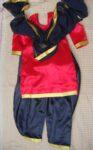 RED/BLACK custom made Girl's Bhangra Costume outfit dance dress