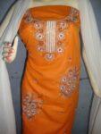 embroidered Patiala Salwar Suit chuni semi stitched RM026