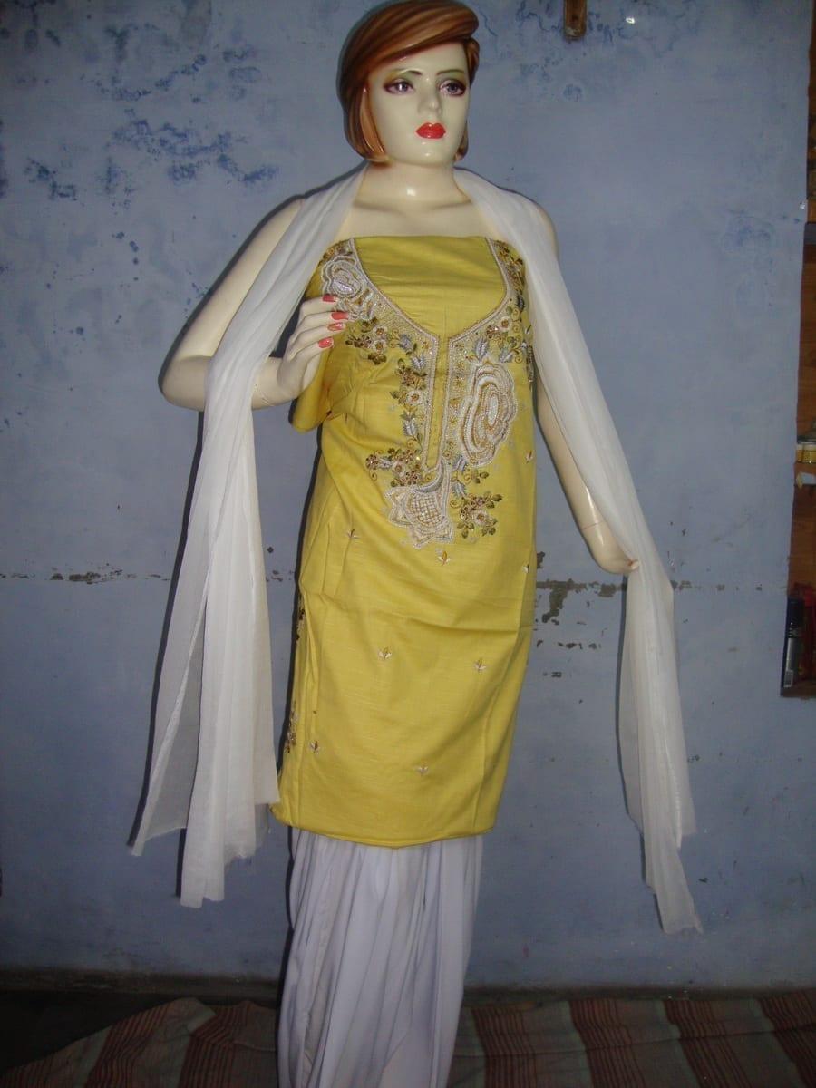 embroidered Patiala Salwar Suit chuni semi stitched RM027 1