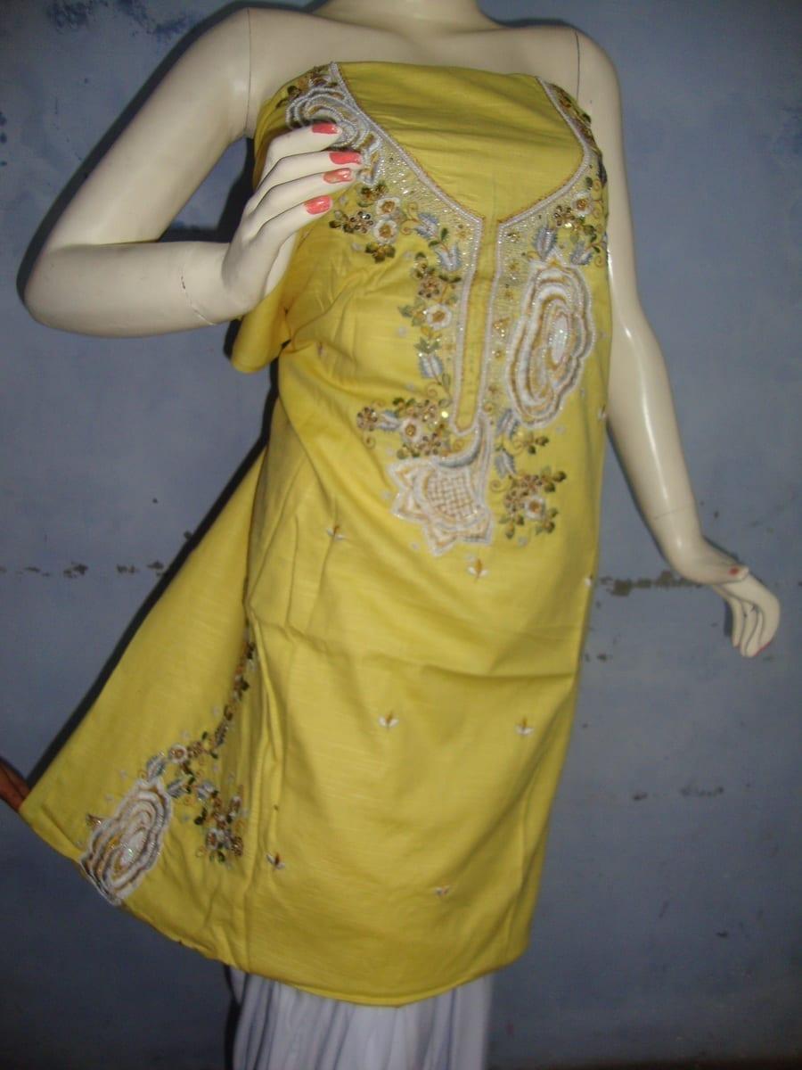 embroidered Patiala Salwar Suit chuni semi stitched RM027 2