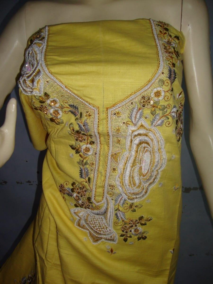 embroidered Patiala Salwar Suit chuni semi stitched RM027 3