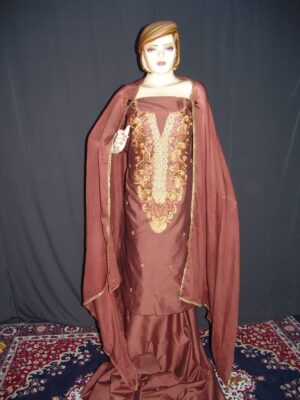 Cotton Silk Embr Salwar Suit PURE CHINON  Dupatta RM115