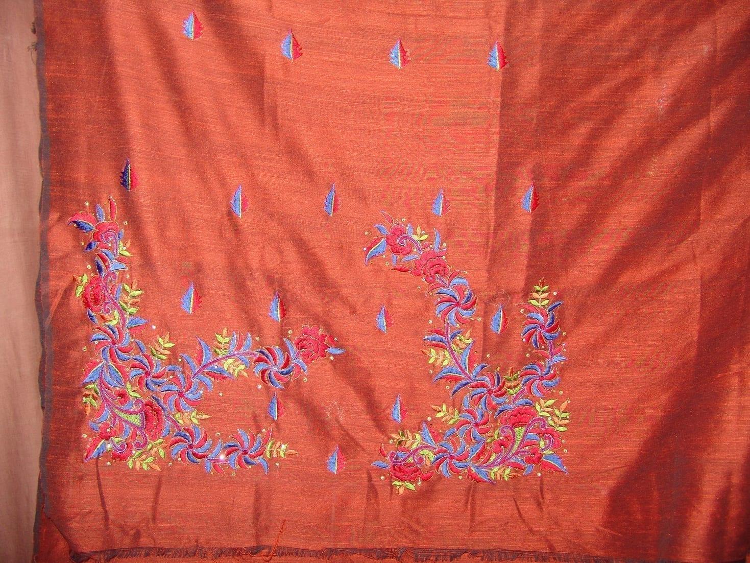 Cotton Silk Embr Salwar Suit PURE CHINON  Dupatta RM120 3