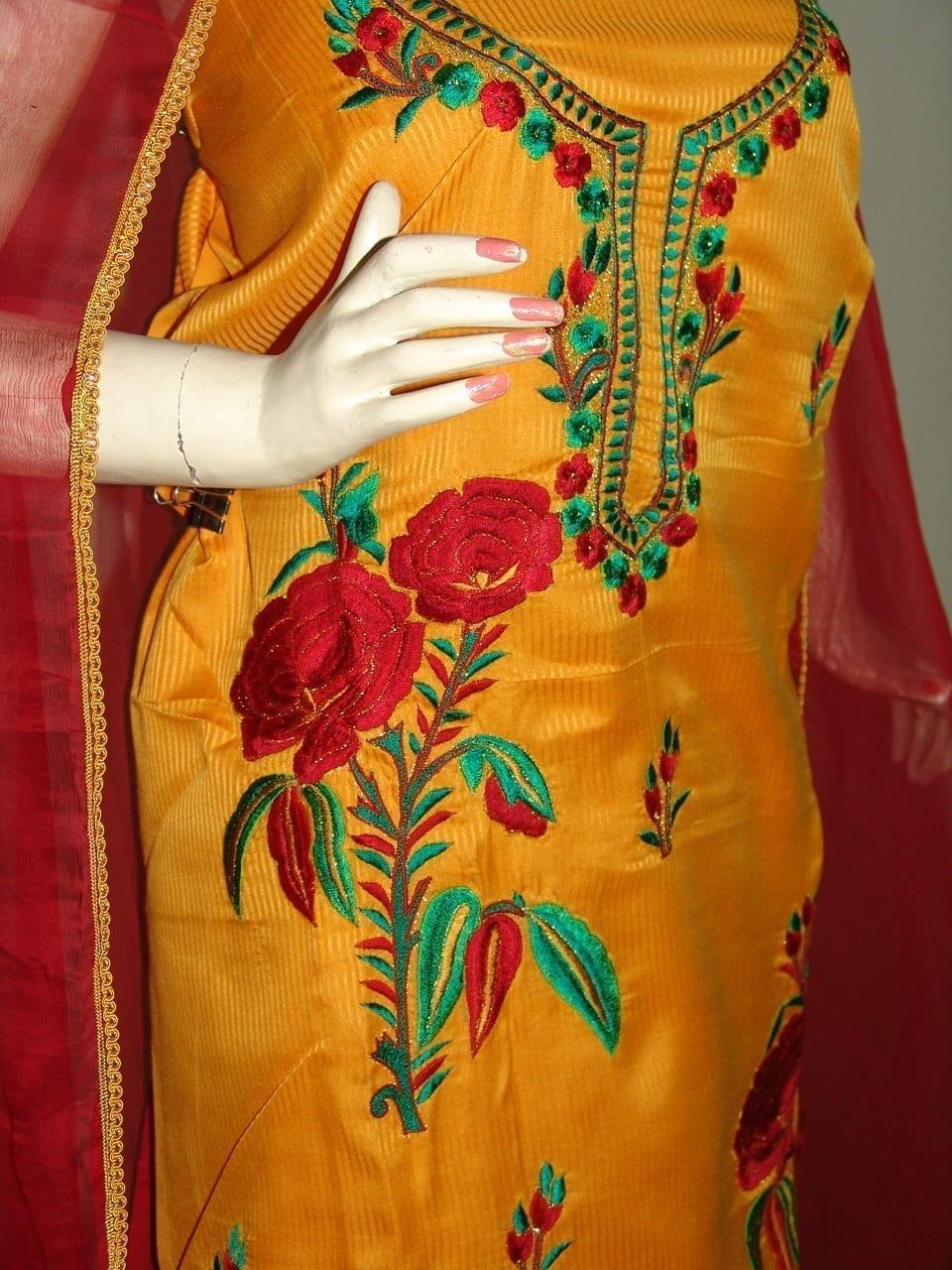 FULL PATIALA 100% cotton Salwar Suit PURE CHIFFON Dupatta RM154 2