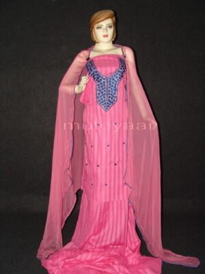 Self Print Pure Cotton embr Salwar Suit Chiffon Dupatta RM173