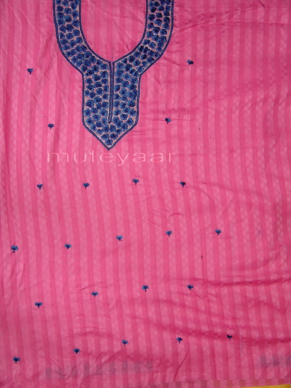 Self Print Pure Cotton embr Salwar Suit Chiffon Dupatta RM173 4